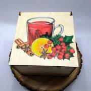 "Квадратная коробка с рисунком ""Глинтвейн"""