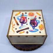 """Коробка-пенал с рисунком """"Новый год"""" на крышке"""