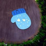 """Елочная игрушка """"Голубая варежка"""""""