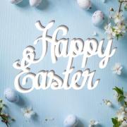 """Табличка """"Happy Easter"""""""