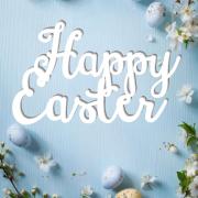 """Табличка """"Happy Easter"""" пасхальная"""