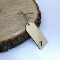 """Деревянная бирка на подарок """"Ярлычок"""""""