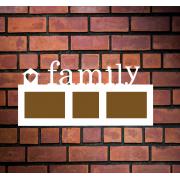 """Деревянная фоторамка """"Family"""" с домиком"""