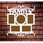 "Деревянная фоторамка ""Family"""