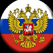 Значок флаг России с гербом