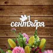 """Табличка """"1 сентября"""" с листиком простая"""