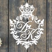 """Свадебный герб """"Корона и бабочки"""""""