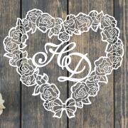 """Свадебный герб """"Розовое сердце"""""""