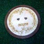 "Свадебная тарелочка для колец ""Рустик"""