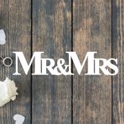 Деревянное слово для фотосессии MR&MRs