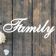 Деревянное слово для фотосессии Family