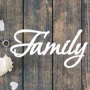 Деревянное слово для фотосессии Family рустик