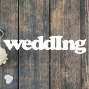 Деревянное слово для фотосессии Wedding
