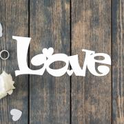 Деревянное слово для фотосессии Love игривый