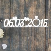 Дата для свадебной фотосессии на заказ с кольцом