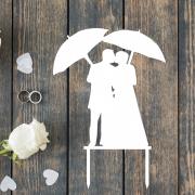 """Свадебный топпер """"Пара с зонтиками"""""""