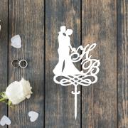 Свадебный топпер с инициалами