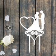 Свадебный топпер с датой свадьбы