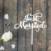 "Свадебный топпер ""Jusr Married"""