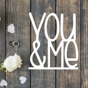 "Свадебная табличка ""YOU&ME"""