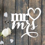 """Свадебная табличка """"MR&MRS"""""""
