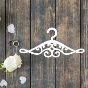 Свадебная вешалка с узорами