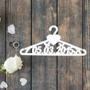 Свадебная вешалка с вашей датой свадьбы