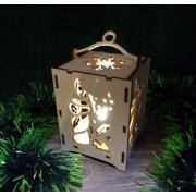 """Новогодний фонарик """"Рождественская свеча"""""""
