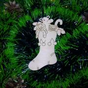 """Заготовка для творчества """"Рождественский носок"""""""